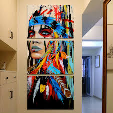 art pictures for living room jescom art painting wall art native american girl feathered women