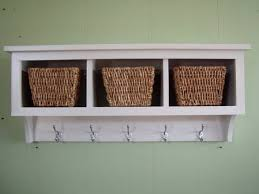 Wood Storage Shelf Design by Wall Shelves Design Wonderful Wall Storage Shelves With Baskets