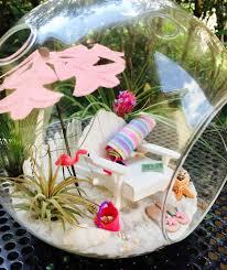 beach terrarium kit beach towel pink flamingo adirondack