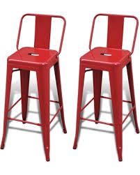 Bar Stool Chairs With Backs Incredible Deal On Bar Chair High Chairs Bar Stools Square 2 Pcs