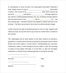 promissory note template 10 download free documents in word
