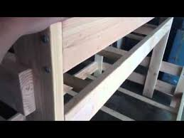 Free Plans Build Twin Over Full Bunk Beds by Twin Over Full Bunk Bed Youtube