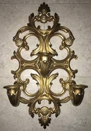 Candelabra Wall Sconces Vintage Shiny Gold Homco Dart Ind Wall Candelabra Wall Sconce