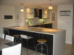 modern white nuance of the condo style furniture kitchen can be