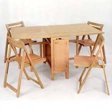 Folding Dining Table With Chair Storage Furniture Decoration In Folding Dining Table With Chair Storage