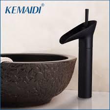 oil rubbed bronze bathroom sink faucet kemaidi oil rubbed bronze bathroom sink faucet waterfall lavatory