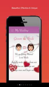 wedding invitations app my wedding invitation on the app store