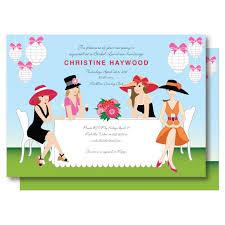 big hat brunch invitations garden bridal shower invitation chagne brunch big hat