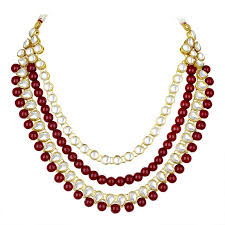 indian necklace set images Buy spargz designer bollywood red kundan mala long necklace set jpg