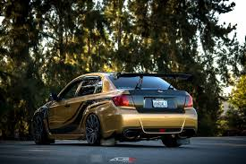 subaru gold beast mode on custom gold wrapped subaru wrx u2014 carid com gallery