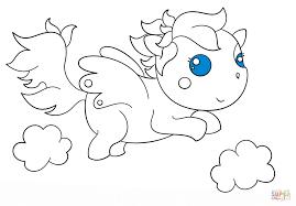 chibi pegasus coloring page free printable coloring pages