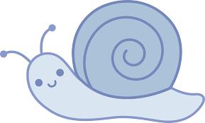 cute blue snail free clip art