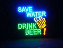 cheap light up beer signs save water drink beer motion led sign by shindiggit com exclusive
