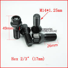 bmw x5 aftermarket accessories aliexpress com buy 20pcs wheel bolt m14x1 25x26 for wheel axle