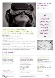 chambre de l 馗onomie sociale et solidaire conférence vers une économie collaborative sociale solidaire
