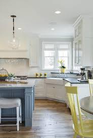 yellow and gray kitchen contemporary kitchen house beautiful