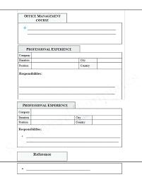 resume format blank sle blank resume best template free doc getstolen