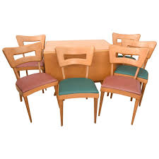maple heywood wakefield drop leaf dining table 1950s saturday