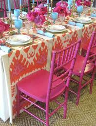 Baby Shower Table Setup by Setting A Bold Table Elements Of Style Blog