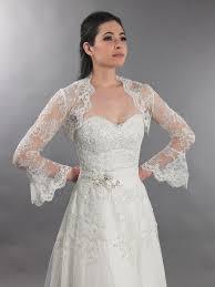 ivory long bell sleeve bridal re embroidered lace bolero jacket