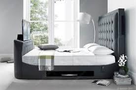 Kingsize Tv Bed Frame Titan Multi Media King Size Tv Bed Frame Holds A 43 Tv Ebay