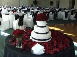 beautiful cake table black white and red wedding cake cake