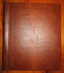 leather scrapbook plain cover fully adjustable book of shadows scrapbook