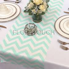 zig zag table runner mint and white chevron zigzag wedding table runner 2498612 weddbook