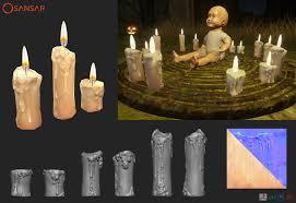 halloween flameless candles artstation sansar halloween props alyssa raven