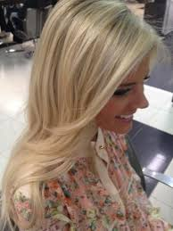 platinum hairstyles with some brown slightly a lined long bob and added depth and dimension with