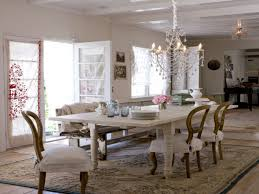 dining room country chic dining room table hanging candle