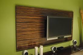 hand made macassar ebony wood wall tv panel by paradigm design ny