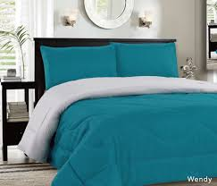 Down Alternative Comforter Twin Xl Down Alternative Reversible Comforter Grey Aqua Blowoutbedding Com