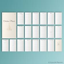 christmas planner personal filofax inserts printable inserts