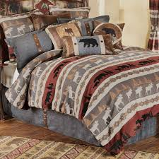 moose lodge quilt set christmas bedding s msexta