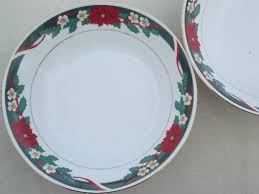 christmas china patterns deck the halls christmas china serving bowls w poinsettia pattern