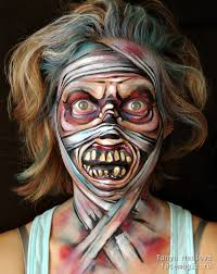 zombie face paint by tanya maslova my face paints monsters