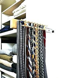 Ideas For Wall Mounted Tie Rack Design Closet Tie Rack New Bow Storage Architecture Extraordinary Idea