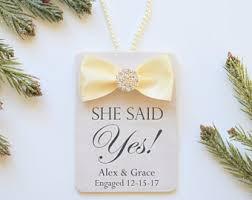 she said yes ornament etsy