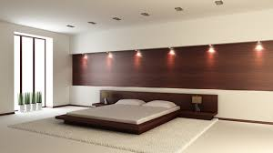 a contemporary bedroom design to enhance bed frame to the back wall