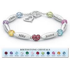 birthstone bracelets for a loving family personalized birthstone bracelet the danbury