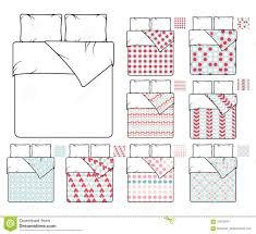 bedding and linen vector template sample patterns set stock vector