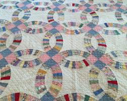 wedding ring quilt wedding ring quilt etsy