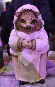 cakes at cake and bake show look just like beatrix potter