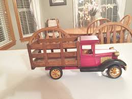 Etsy Vintage Home Decor by Wooden Farm Truck Red Truck Wood Model T Wood Farm Delivery Truck