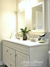 simply salvaged beadboard and built ins master bathroom reveal