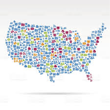 Map Of Unite States by Map Of United States Made Of Tiny Business Icons Stock Vector Art