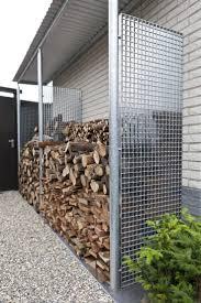 Brennholz Lagern Ideen Wohnzimmer Garten Rejillas Metálicas En El Hogar Almacenamiento Leña Exterior