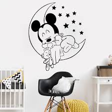 Mickey Home Decor Mickey Mouse Baby Wall Sticker For Room Home Decor