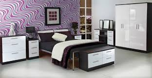 stunning creative black gloss bedroom furniture with strong design